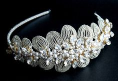Vintage Style Crystal Bridal Side Tiara by JoannaReedBridal, £315.00
