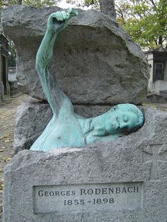 pere-lachaise-cemetary Paris......interesting, beautiful and in ths case creepy headstones...take time to spend a few hours here when in Paris