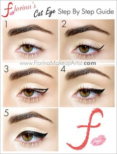 Winged eyeliner tutorial www. Cat Eyeliner Gel Liner Tutorial on how to make Cat Makeup, Love Makeup, Skin Makeup, Makeup Tips, Beauty Makeup, Makeup Looks, Makeup Ideas, Makeup Tutorials, Eyeliner