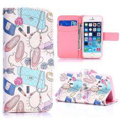 Vrouwen accessoires wallet hoesje voor iPhone 5 / 5S