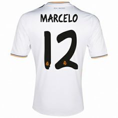 2f3d4cf02 Real Madrid UEFA Champions League Home Shirt 201314 with Marcelo 12 p Online  Shopping