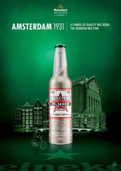 #Heineken #bottle #limited edtionn #Amsterdam