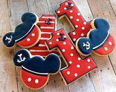 Nautical Mickey Sugar Cookies (1 dozen)