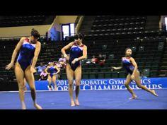 Competitive acro - USA gymnastics. My gosh they're amazing.