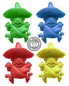 Frito Bandito Pencil Toppers.. I remember getting these in my Fritos.. can still remember their jingle.. Ay, ay, ay, ay,... I am the Frito Bandito :D