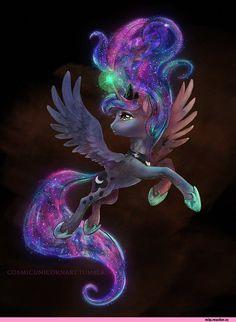 mlp art,my little pony,Мой маленький пони,фэндомы,Princess Luna,принцесса Луна,royal,CosmicUnicorn