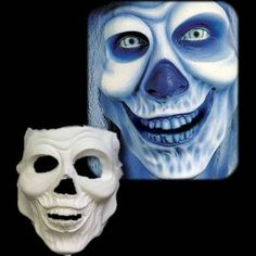 Ghost Rider is part of Woochie's Pro line of foam latex prosthetic masks. These masks stick to your face using cosmetic grad adhesive and move with your movements. This effect has been used in film fo