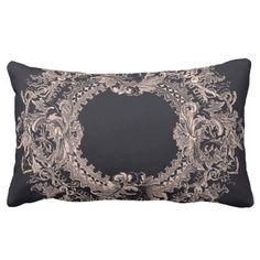 """Victorian Frame"" Lumbar Pillow by Avalon Media, also available as throw pillow"