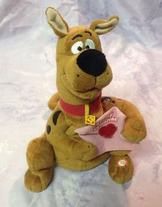 "Scooby Doo Valentine Plush 8"" Animated Musical Sings ""Be My Baby"" by Ronettes #Gemmy"