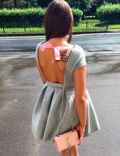 Babe Cute Backless Dress