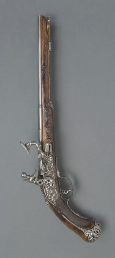 Snaphaunce Pistol in the Tuscan Manner.     Made in Tuscany, Italy, Europe.  Date: c. 1675.