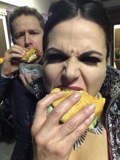 "Lana Parrilla: ""BurgerQueen & #MacAttack #JoshDallas"""