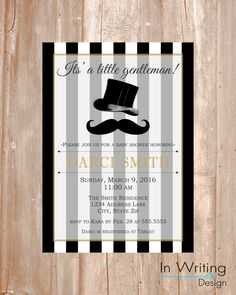 Little Gentleman- Baby Shower Invite by InWriting on Etsy https://www.etsy.com/listing/249267790/little-gentleman-baby-shower-invite