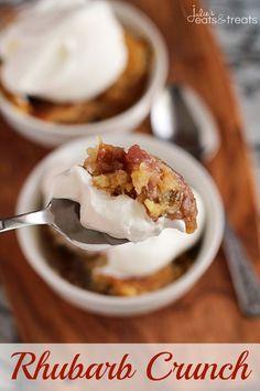 Rhubarb Crunch ~ Super Easy and Simply Delicious Rhubarb Dump Dessert!