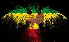 Old Ethiopian flag on grunge eagle HD Wallpaper