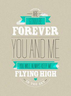 Lámina Mr. Wonderful Forever you and me.