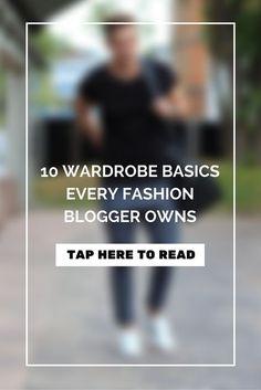 10 Wardrobe Basics Every Fashion Blogger Owns | #MensFashion #Fashion    Read Here >>> https://www.lifestylebyps.com/blogs/lifestylebyps/10-wardrobe-basics-every-fashion-blogger-owns