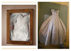 I'm so making a shadow box with my wedding stuff dress !