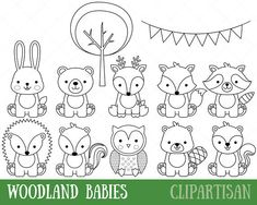 Baby Animals Coloring Pages . 30 Fresh Baby Animals Coloring Pages . Elegant Cute Coloring Pages Baby Animals Safari Animals, Forest Animals, Woodland Animals, Baby Animals, Cute Animals, Animal Coloring Pages, Adult Coloring Pages, Coloring Sheets, Coloring Books
