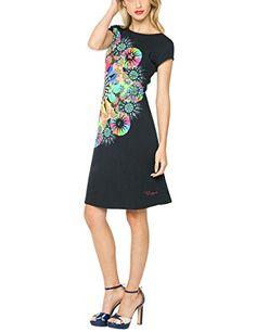 Desigual Bernadett - Robe - Trapèze - Imprimé - Manches courtes - Femme Pour en savoir + suivez ce lien : https://www.pifmarket.com/boutique/mode-et-beaute/desigual-bernadett-robe-trapeze-imprime-manches-courtes-femme/