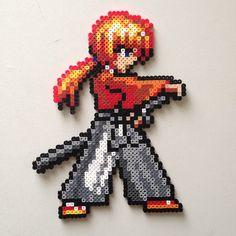 Himura Kenshin - Rurouni Kenshin perler beads by 8bitofjai