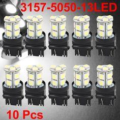 Finding best online  Car 3157 5050 SMD 13 White LED Brake Parking Tail Light Bulbs 4114 10 Pcs? DHgate.com provides all kinds of Turn Light & Brake Light under $13.28. Buy now enjoy fast shipping.