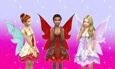 Fairy Dress for Girls at My Stuff via Sims 4 Updates