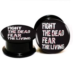 Find More Body Jewelry Information about 2pcs/Lot Black Acrylic The Walking Dead Ear Plugs Screw Fit Ear Gauges Plugs 6MM 25MM 2G 1'' AB083053,High Quality screws for iphone 4,China screw blade Suppliers, Cheap screw fasteners from DreamFire Store on Aliexpress.com