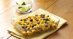 Mexican Corn & Black Bean Salad #recipe - Round out your Mexican meals with this fresh, colorful salad. Busy cooks will appreciate its make-ahead convenience.