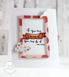 Card created by design team member Tyra Babington with our Enjoy Calligraphy stamp set