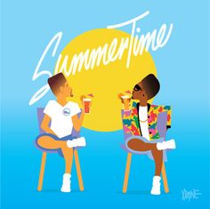 """Will Smith and DJ Jazzy Jeff - """"Summertime""""   These Illustrations of '90s Black Pop Culture Are Amazing"""