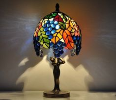 tiffany style dragonfly table lamp aqua red - Google Search