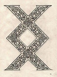 """Inguz: A viking rune for new beginnings. Some say """"where theres a will theres a way."""" A rune of great power, my next tattoo most likely!"""