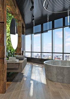 Dramatic interior of a charismatic bachelor on Behance Moss Wall, Condo Decorating, Cozy House, Beautiful Homes, Sweet Home, Behance, House Design, Patio, Living Room