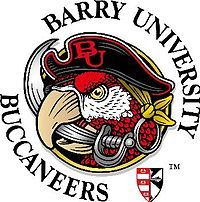 Buccaneers, Barry University (Miami Shores, Florida) Div II, Sunshine State Conference #Buccaneers #MiamiShores #NCAA (L7065) Barry University, Miami Shores, Sunshine State, Porsche Logo, Vintage Logos, Sports Logos, Colleges, Conference, Florida