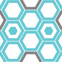 Camelot Blue Hexagons