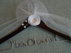 Personalized wedding dress hanger, bridal hanger, wedding shower, bride, wedding, bridal shower
