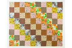 indian marigolds - hand stitched quilt