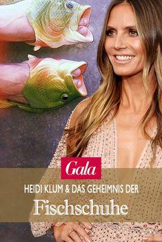 Was hat Topmodel Heidi Klum mit diesen Fischschuhen am Hut und besonders wichtig: Welche Rolle spielen Bill und Tom Kaulitz von Tokiohotel dabei?