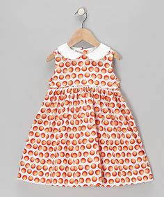 Look what I found on #zulily! White Oranges Sundress - Toddler & Girls #zulilyfinds