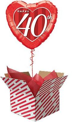 40th Happy Anniversary Balloon Gifts For 18th Birthday, 21st Birthday, Birthday Cards, Wedding Anniversary Gifts, Happy Anniversary, 60th Birthday Balloons, Presents For Friends, First Birthdays, 50th