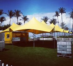 Stretch tent and shipping container conversions.