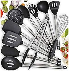 Home Hero 11 Silicone Cooking Utensils Kitchen Utensil Set - Stainless Steel Silicone Kitchen Utensils Set - Silicone Utensil Set Spatula Set - Silicone Utensils Cooking Utensil Set - Kitchen Tools - Appliances Best Cooking Utensils, Silicone Kitchen Utensils, Kitchen Utensil Set, Kitchen Dining, Silicone Bakeware, Kitchen Shop, Kitchen Ideas, Kitchen Tools And Gadgets, House Gadgets