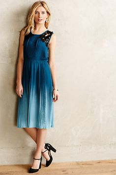 #YoanaBaraschi Cerulean Depths Midi Dress available at Anthropologie