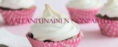 Vaaleanpunainen Nonparelli: Tuulihatut (myös gluteeniton) Desserts, Food, Tailgate Desserts, Deserts, Meals, Dessert, Yemek, Eten, Food Deserts