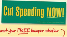 Free Bumper Sticker - Cut Spending NOW!