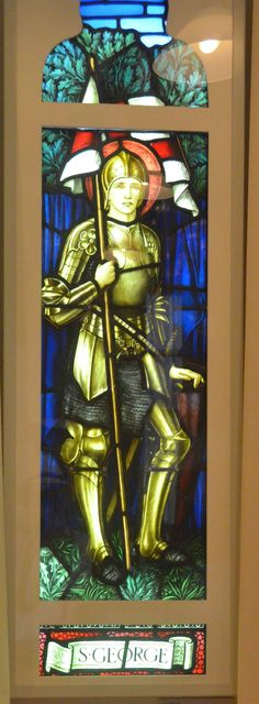 George by John Henry Dearle, Knight In Shining Armor, Grisaille, Saint George, Knights, Old World, Egypt, Stained Glass, Art Nouveau, Design Art