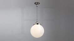Hector Mini Globe Pendant, Opal Glass by Hector Finch Lighting