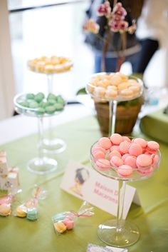 Yummy macarons displayed at a table at Savannah's Behind the Veil event. Photo credit: Katie McGee