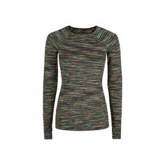 - This multi-sport top wicks away moisture and features built-in thumbholes—two qualities ideal for outdoor training.